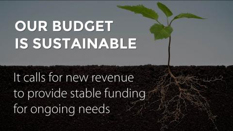 Our budget is sustainable